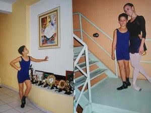 Aos oito anos, Gabriel ganhou uma bolsa de ballet e começou a estudar na escola de Marcela Campos (Foto: Gabriel Lopes/ arquivo pessoal)