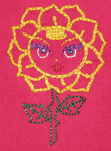 flower bib detail