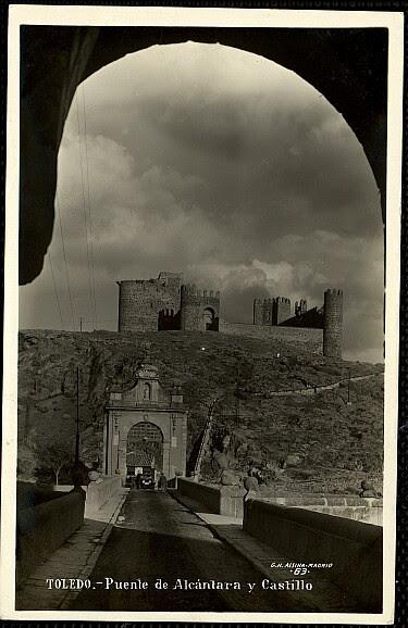 Castillo de San Servando a inicios del siglo XX. Foto Alsina