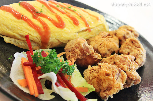 Omu Rice with Spicy Karaage P225