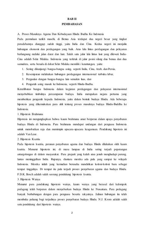 Makalah sejarah kerajaan hindu budha di indonesia