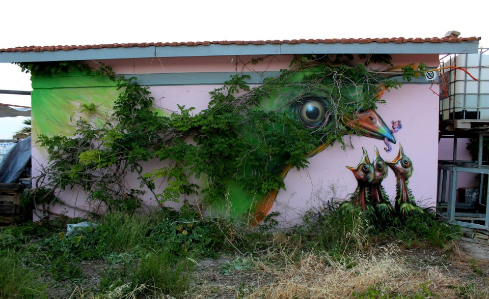 Street Art by Wild Drawing in Athens, Greece