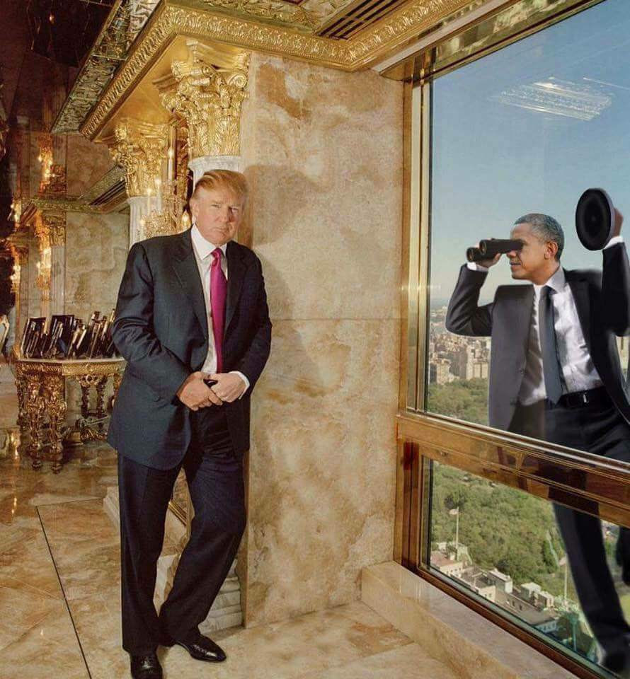 Image result for obama spying on trump cartoons