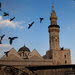 Birds flying over the Umayyad Mosque in Damascus, April 2009.