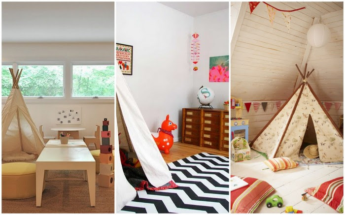 Native american tepee children's playrooms