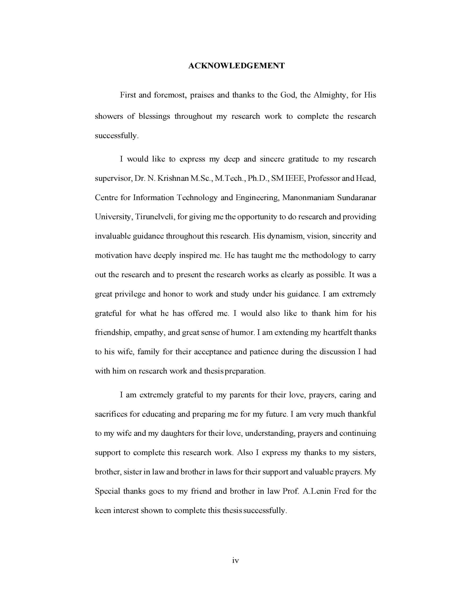 Group Thesis Acknowledgement Sample - Thesis Title Ideas For College