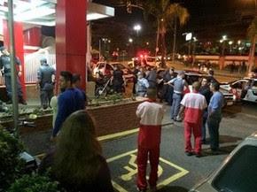 Sargento da PM leva 13 tiros em frente a Habib's em Piracicaba (Foto: Diego Spigolon/Arquivo pessoal)