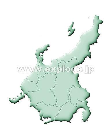 096 日本地図 中部地方 Mix Jpg 写真素材