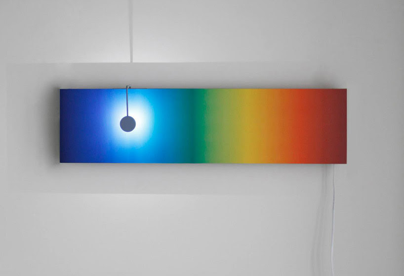 kinetic sunset sunrise lamps by barbora adamonyte