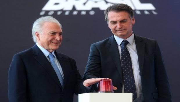 Temer autoriza abate de aviões suspeitos durante a posse de Bolsonaro