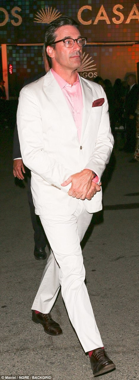 Feeling Hoth in there? Seth MacFarlane won the night as a Wampa from The Empire Strikes Back, while Mad Men star Jon Hamm looked dapper in a smart white suit