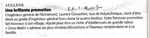 Promotion Giovacchini Laurent