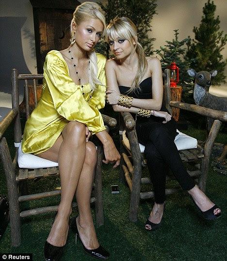 Famous falling out: Paris Hilton, left, and Nicole Richie were once the best of friends