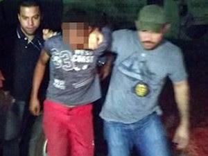Suspeito foi apreendido e encaminhado para a cidade de Piripiri (Foto: Reprodução/TV Clube)
