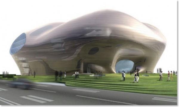 erdos museum09 600x359 14 Futuristic Building Designs in China