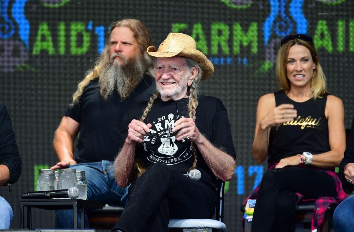 PITTSBURGH, PA - SEPTEMBER 16:  Willie Nelson answers questions during 2017 Farm Aid on September 16, 2017 in Burgettstown, Pennsylvania. (Photo by Matt Kincaid/Getty Images)
