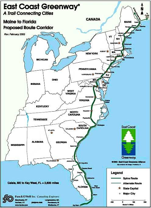 East Side Of Us Map Us Map East Coast   CYNDIIMENNA