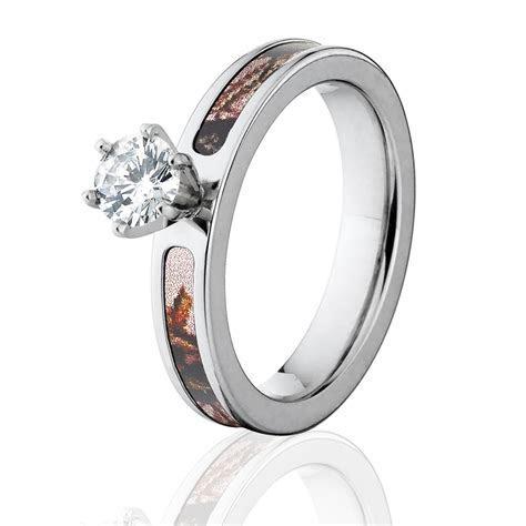 Pink Break Up Mossy Oak Camo Engagement Ring
