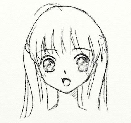 step  step drawing anime faces  getdrawingscom