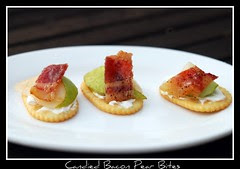 Candied Bacon Pear Bites