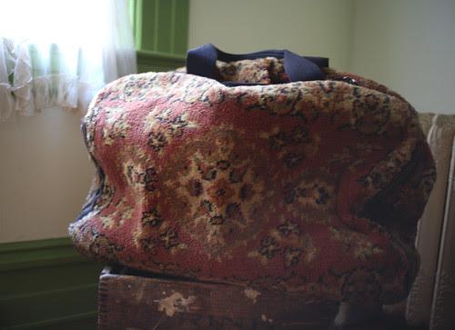 carpet suitcase!