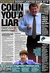 Exclusive  Dodgy Lawyer back at it - Sunday Mail 22 April 2012
