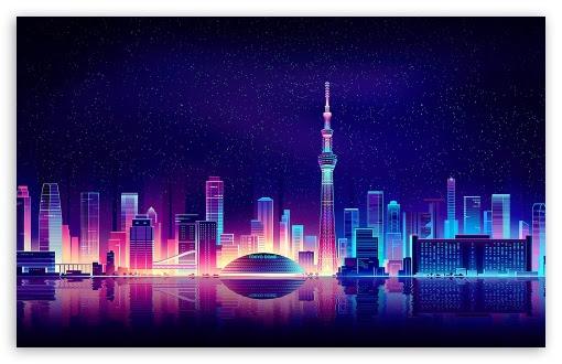 City Illustration Ultra Hd Desktop Background Wallpaper For 4k Uhd Tv Widescreen Ultrawide Desktop Laptop Multi Display Dual Monitor Tablet Smartphone