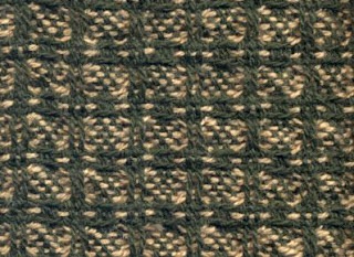 Huck boxes with 2 color weft, page 7, treadling F.