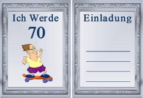 Einladungskarte 70 Geburtstag