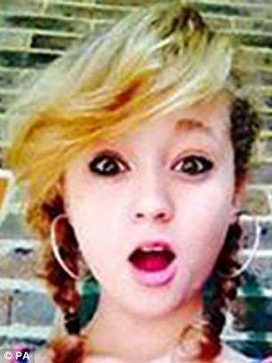 Chloe Newman, 14, has been missing since January 7. She was last seen getting into a black car at Haywards Heath railway station in West Sussex