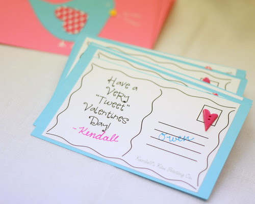 Valentine Postcard Back