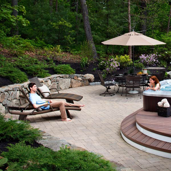 Patio And Hot Tub Deck In Massachusetts Archadeck Outdoor Living