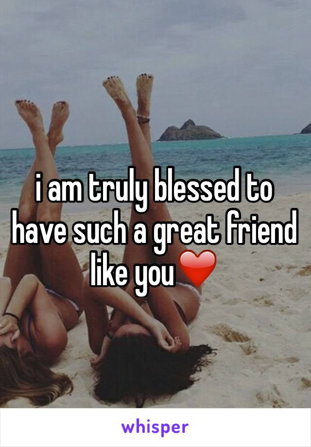 I Am Truly Blessed To Have Such A Great Friend Like You