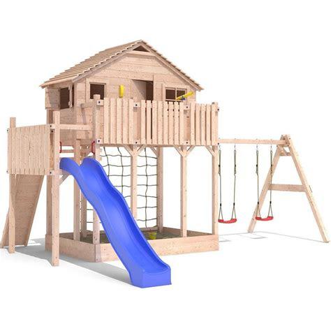 spielturm baumhaus stelzenhaus spielhaus sandkasten