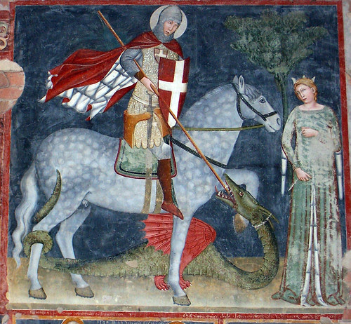 Sant Jordi, fresc de San Zeno, Verona