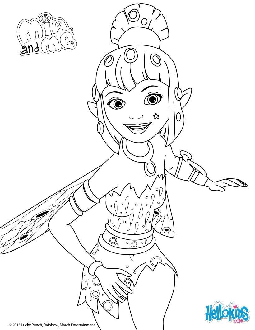 Yuko coloring page