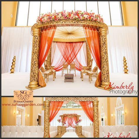 I like this gold Mandap but with a little more flowers #