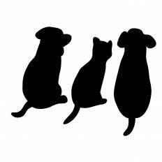 動物シルエット イラストの無料ダウンロードサイトシルエットac