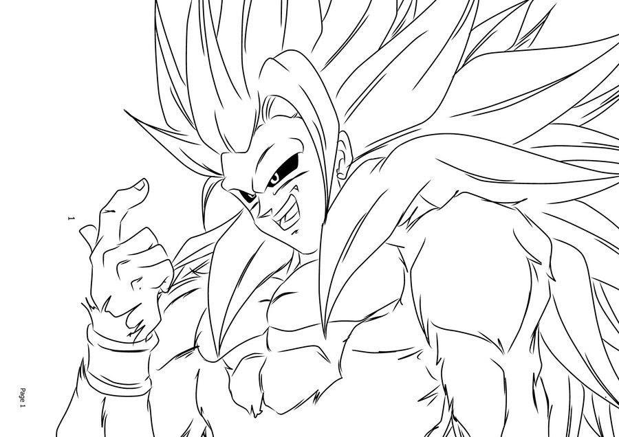 68 Top Dragon Ball Z Coloring Pages Goku Super Saiyan 4 For Free