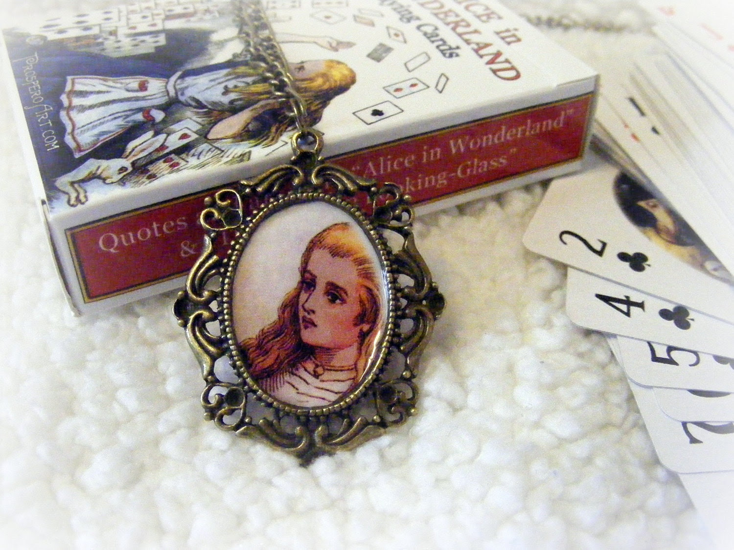 Necklace Alice In Wonderland Cameo