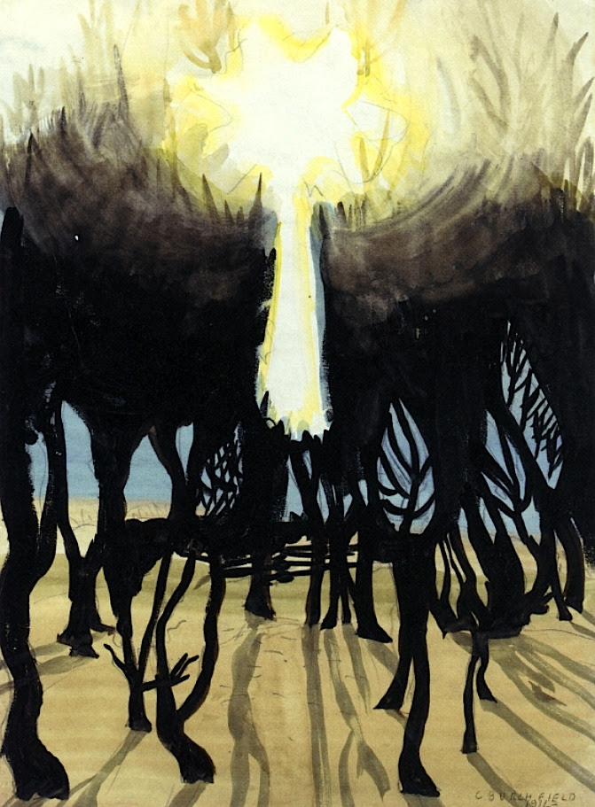 Sunlight in Forest Charles Burchfield - 1916