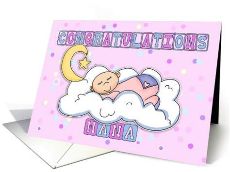 Nana New Baby Girl Congratulations card (620854)