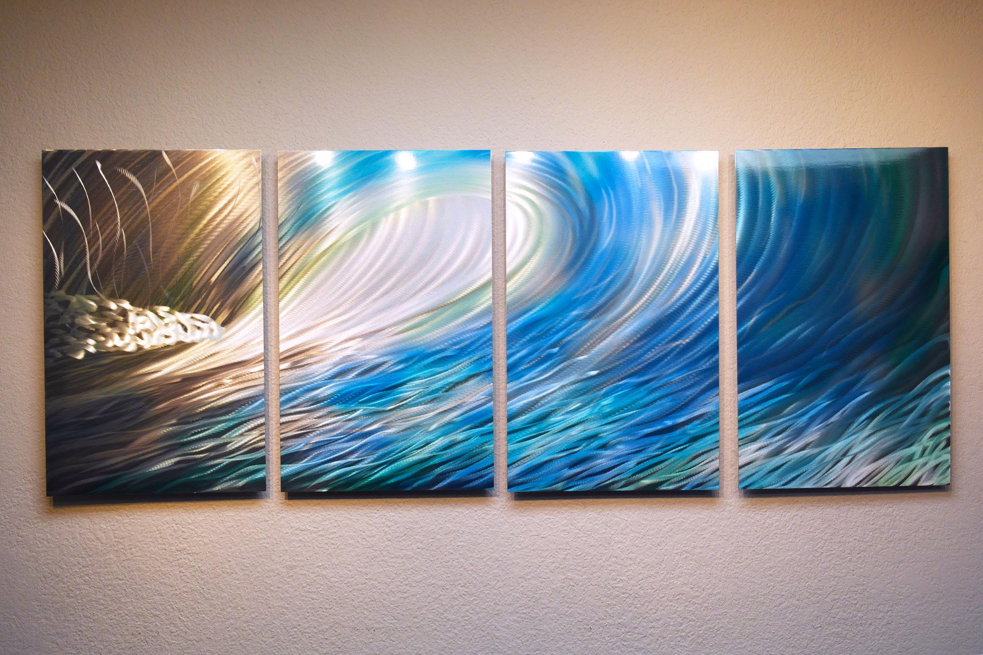 Wave - Metal Wall Art Contemporary Modern Decor ...