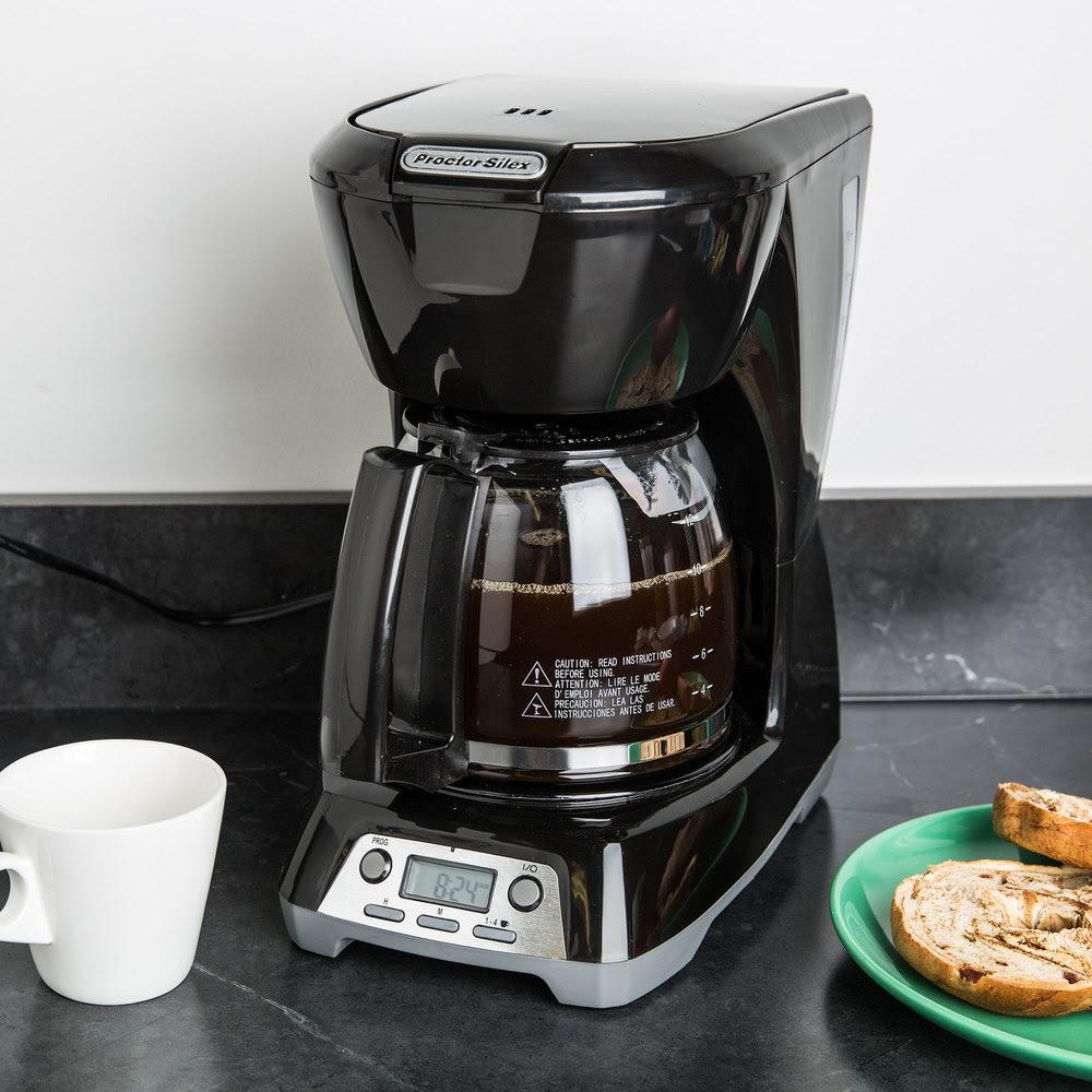 Proctor Silex 43672 Black Programmable 12 Cup Coffee Maker ...