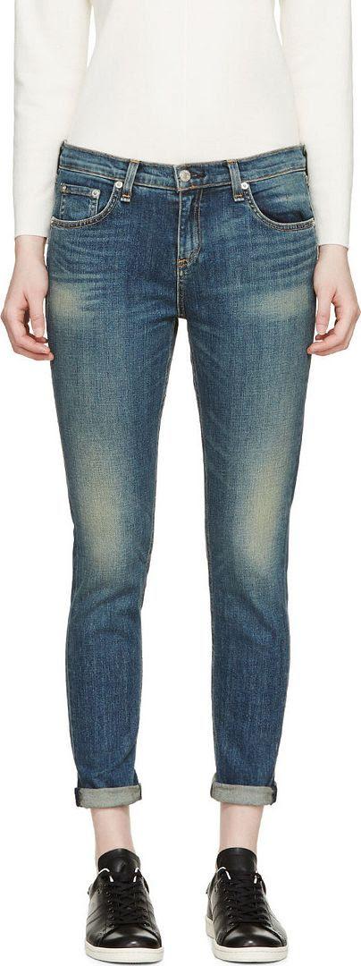 Rag and Bone Blue Dash Jeans