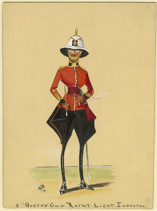 absurd stylised sketch of turn-of-the-century infantry soldier super-skinny legs