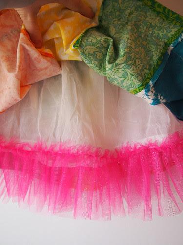 raibow skirt liner tulle ruffle detail