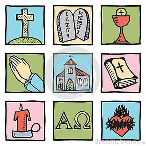 Set Of Christianity Symbols Stock Images   Image: 25819274