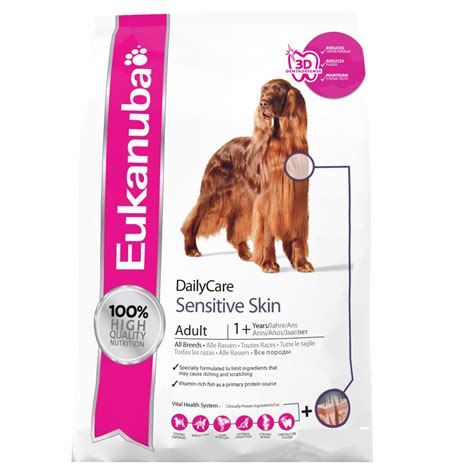 eukanuba daily care adult sensitive skin  chicken