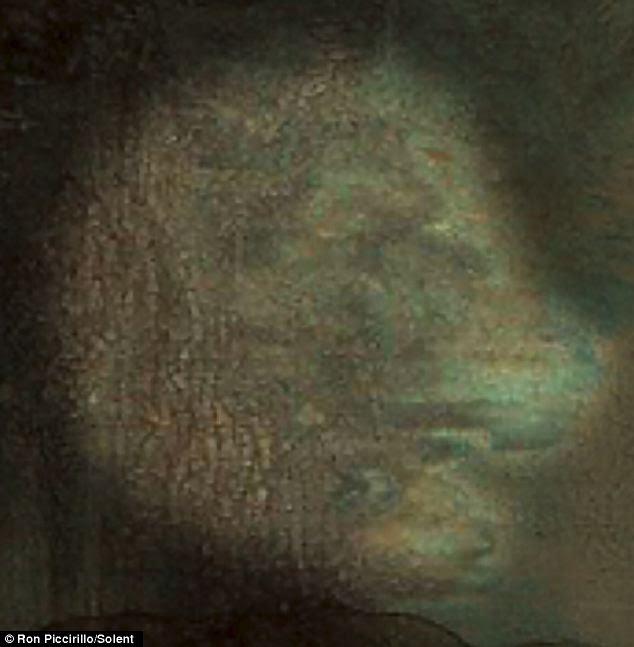 Como você olhar para a pintura do seu lado, você pode somente fazer a forma de um leão para o canto superior direito, ao lado de seu rosto
